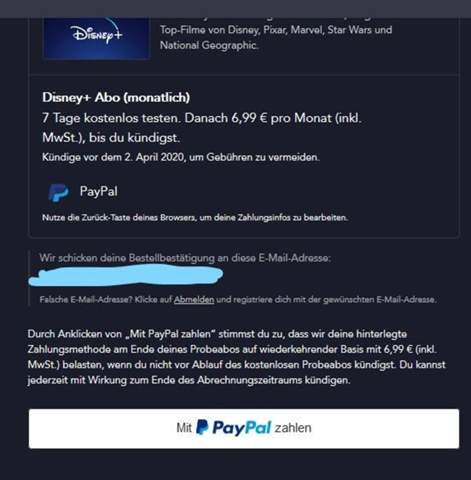 Disney + Kündigung