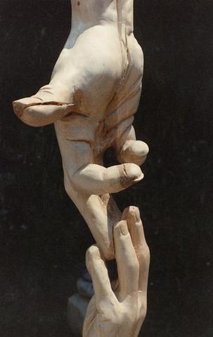 berührende Hände - (Kunst, Hand, skulptur)
