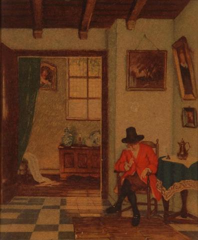 Interieurmalerei  Künstler gesucht (evtl Genre- oder Interieurmalerei) (Malerei ...