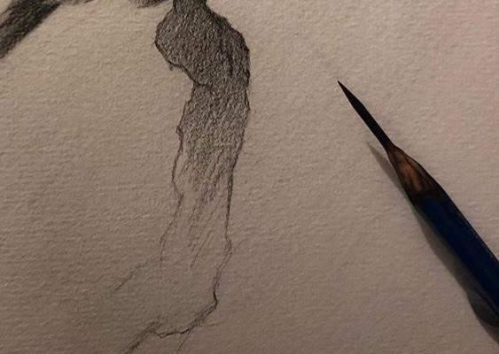 - (Kunst, zeichnen, Künstler)