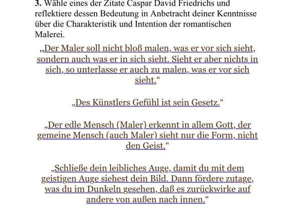 - (Kunst, Hilfestellung, Casper David Friedrich)