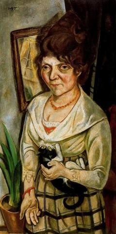 Bildnis Fridel Battenberg (1920) - (Kunst, Analyse, Malerei)