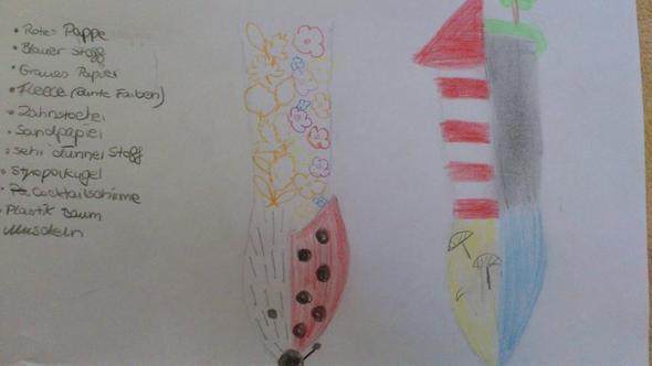 Herbst(Igel) / Frühling(Marienk) +++ Strand(mit Leuchtturm) / Meer(mit Felswand) - (Kunst, Objekt, Gegensätze)