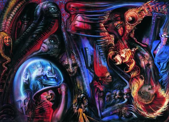 Monsters of rock - (Kunst, Gemälde, tiger)