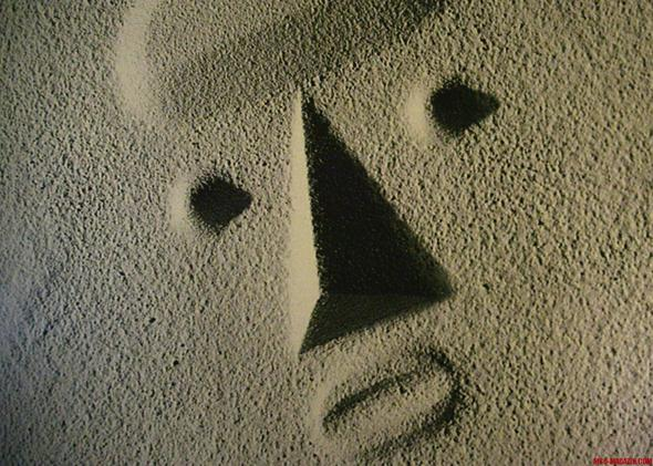 Gesicht im Strand - (Kunst, Künstler, Kunstgeschichte)