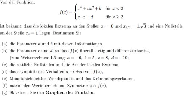 Aufgabe - (Schule, Mathematik, Kurvendiskussion)