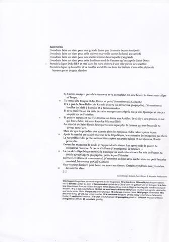 Kurze Inhaltsangabezusammenfassung Schule Französisch Text