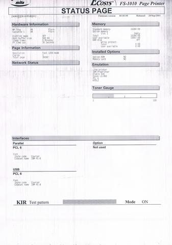 Druckbild - (Drucker, Kopierer, kyocera)