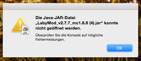 die fehlermeldung - (Minecraft, Konsolen, Mac)