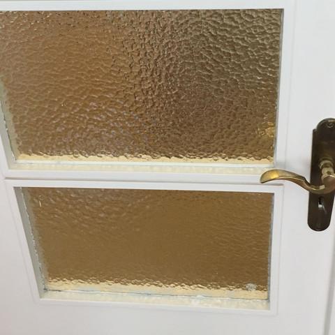 Die ganze Tür  - (Kunst, Lack, Glastür)