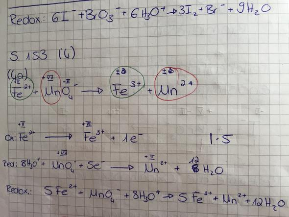 Mno4- Oxidationszahl