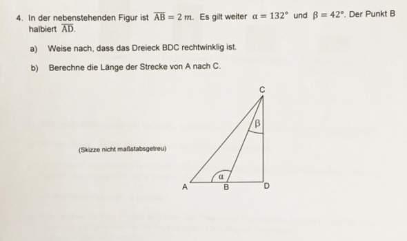 Länge vom Dreieck berechnen?wie löst man diese Aufgabe?