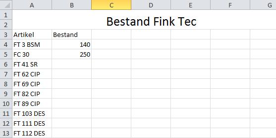 Bestand 1 - (Excel, Formel, Format)
