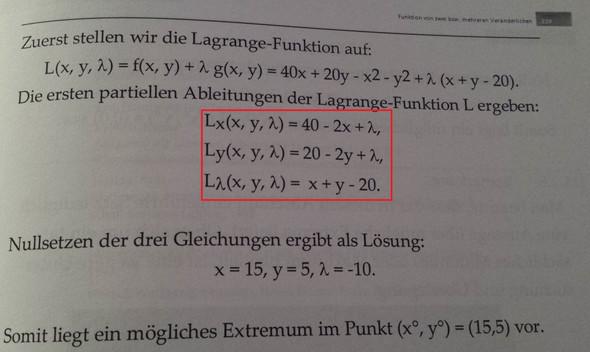 lamba - (Mathe, Nullstellen, lagrange funktion)