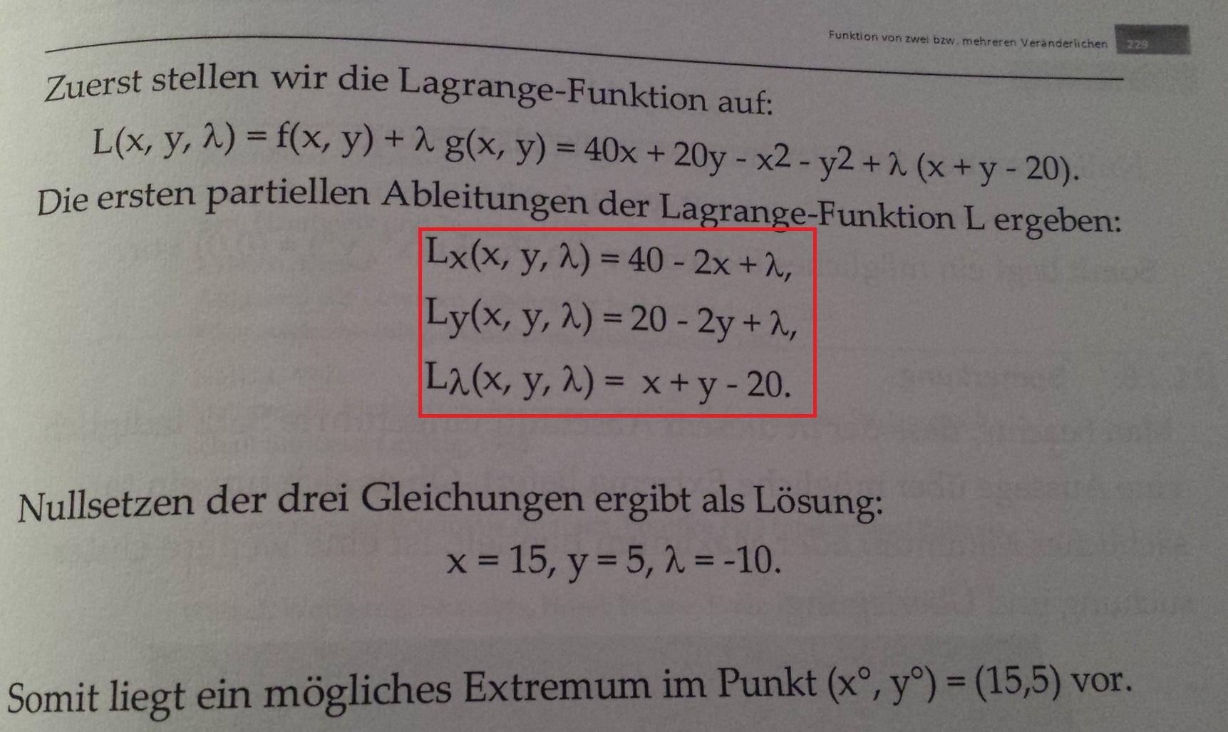 Lagrange Funktion, wie berechnen ? (Foto im Anhang)? (Mathe ...