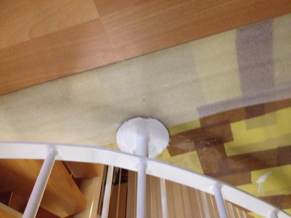 Laminat um Treppengeländer verlegen? (Handwerk, Renovierung)