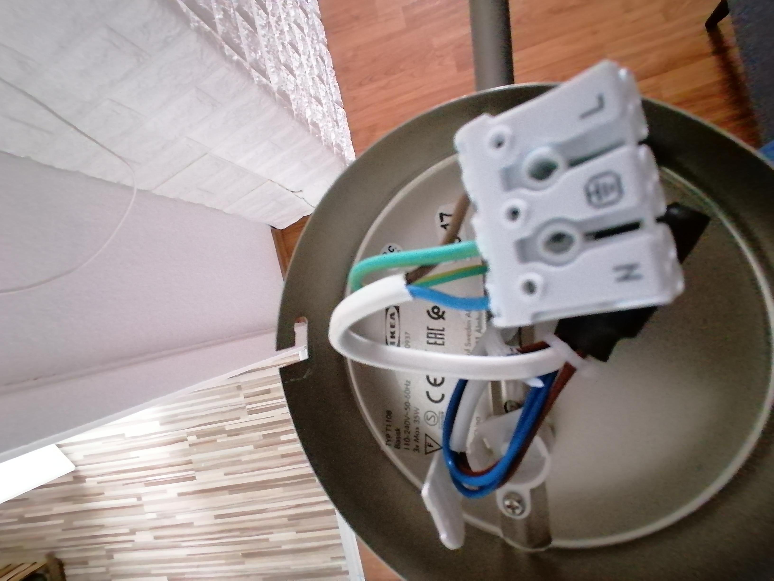 Lampe Anschliessen 3 Kabel Blau Gelb Braun Caseconrad Com