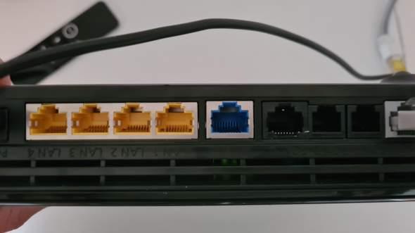 LAN einrichten, in welchen Anschluss kommt das LAN Kabel beim Router?