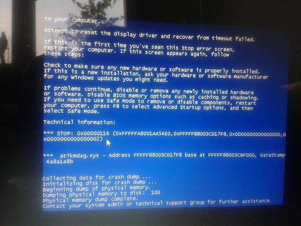 Blue Screen - (Computer, PC, Technik)