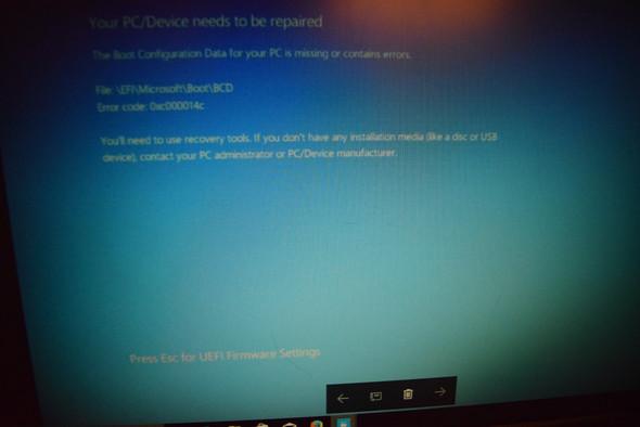 Screen 1 - (Computer, Laptop, systemschaden)