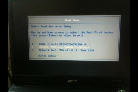 Recovery CD booten - (PC, Acer, Absturz)