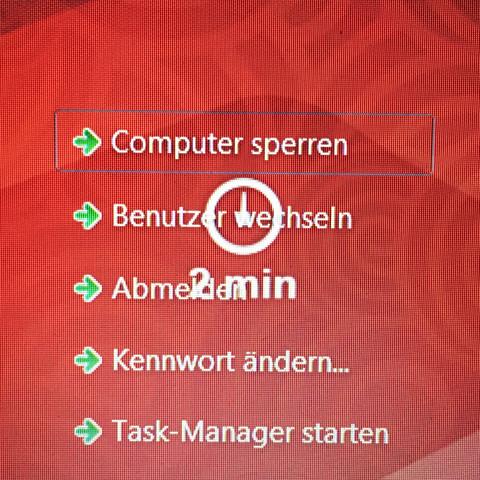 Uhr mit 2 min im Hintergrund - (Computer, Hardware, neu-aufgesetzt)