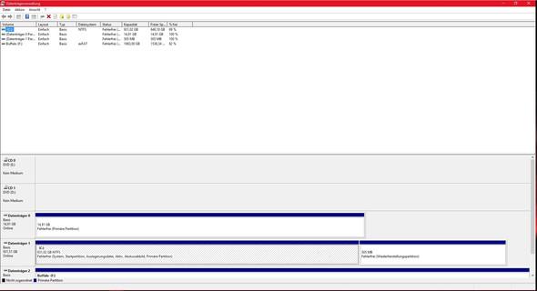 Datenträgerverwaltung - (Computer, PC, Technik)