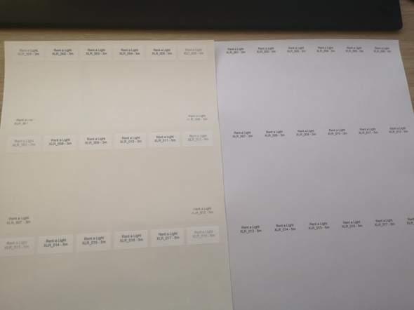 Laserdruck auf Kabelaufkleber von Labelident halten nicht?