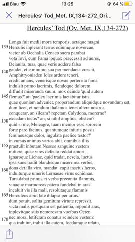 Latein Metrik Ov. Met. IX. 134-272?
