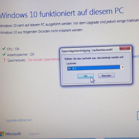 Das ist die Auswahl die ich hab, ich brauche mehr Speicherplatz für windows 10! - (PC, Technik, Windows)