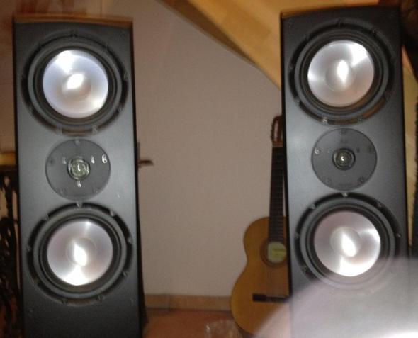 Bild der beiden Lautsprecher (Marke: Magnat) - (Technik, Sound, Audio)