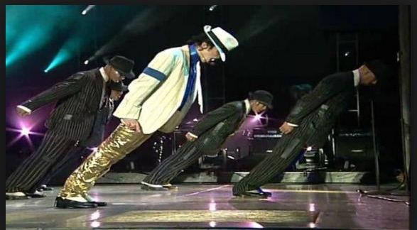 Beispiel - (Michael Jackson, Akrobatik, Lean dance)