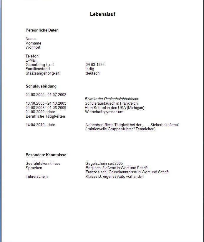 lebenslauf polizei bewerbung - Polizei Niedersachsen Bewerbung