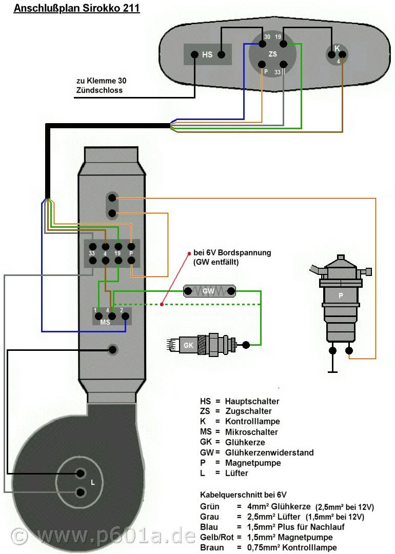 LED als Kontrolle für Glühkerze und erreichen der Betriebstemperatur ...
