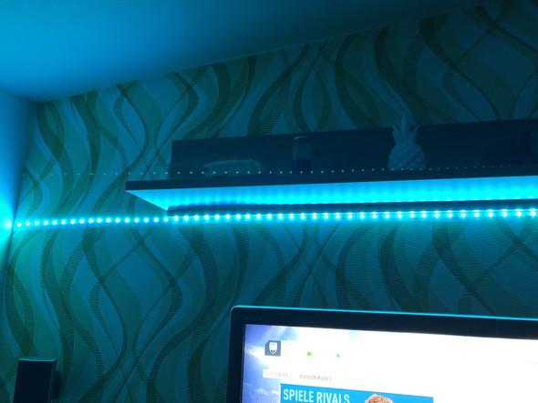 LED-Kette an Wand anbringen?