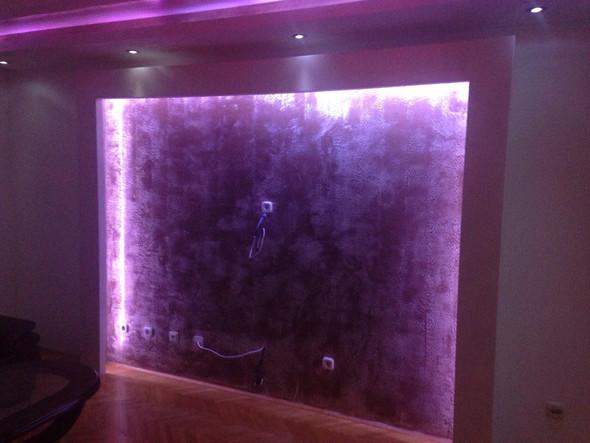 Hier sind die Leds an der Wand sowie an der Decke sichtbar - (bauen, Licht, LED)