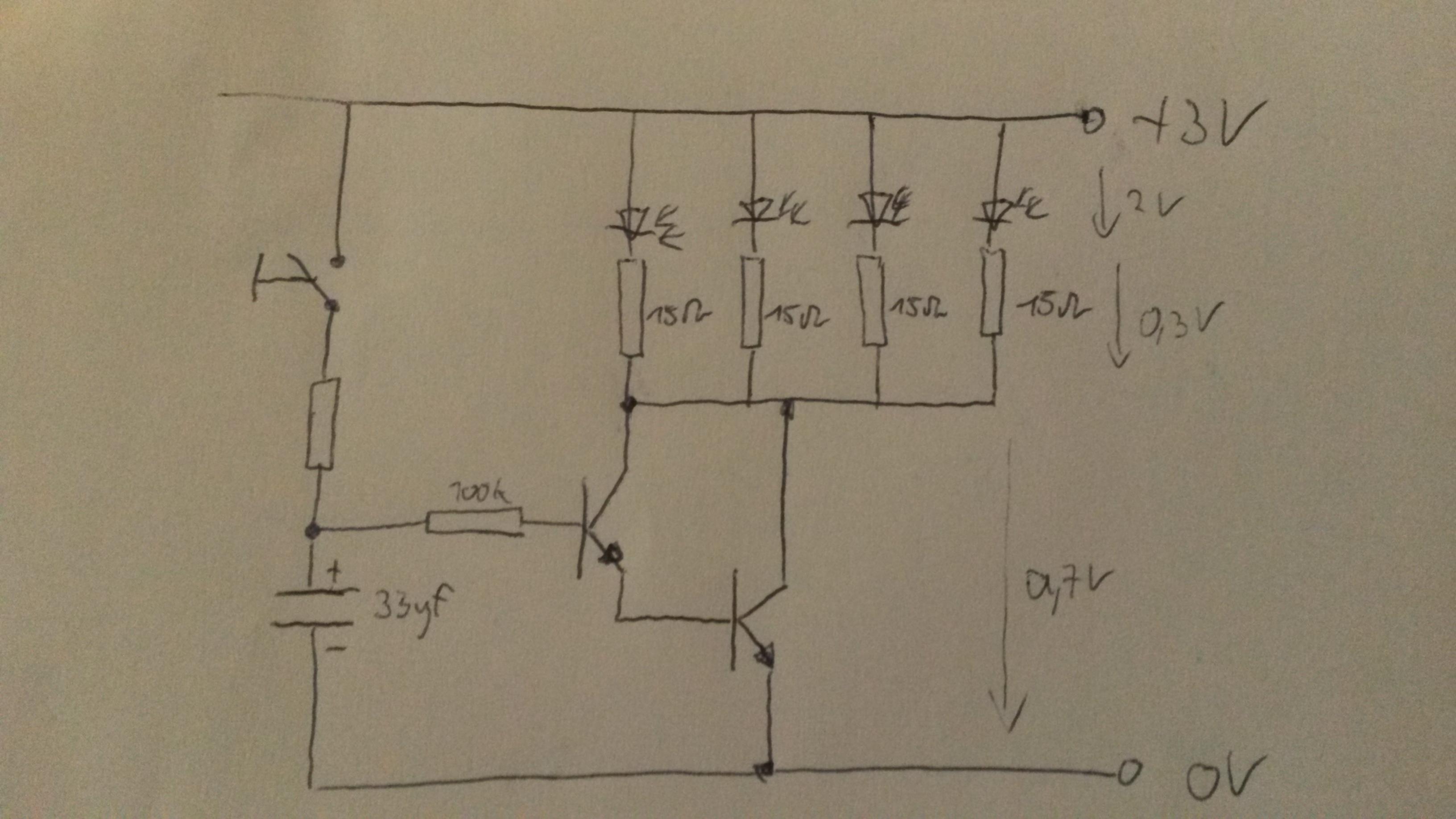 led zeitverz gerungsschaltung elektronik schaltung. Black Bedroom Furniture Sets. Home Design Ideas