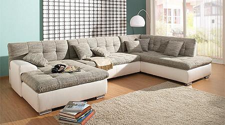 Leder Stoff Sofa Kombinationen Meter