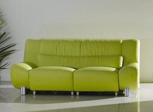 ledercouch in intensiven farbton grelles rot gr n oder blau oder klassischem farbton schwarz. Black Bedroom Furniture Sets. Home Design Ideas