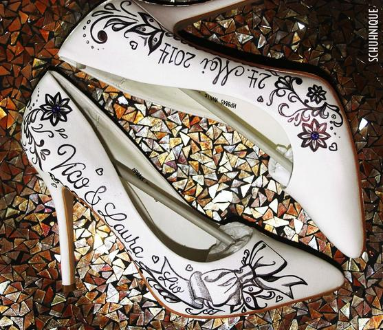 Lederschuhe Bemalen Schuhe Farbe Kunst
