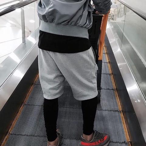 Leggins unter Shorts  - (Fashion, Shorts, Leggins)