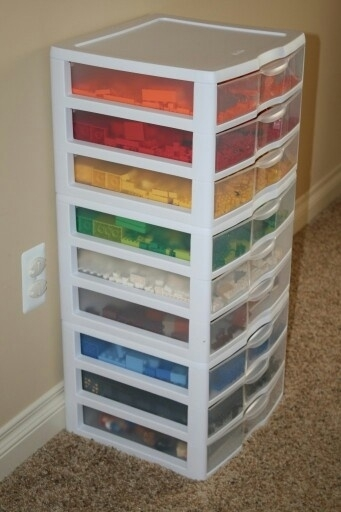 Lego sortierschrank schrank aufbewahrung sortieren - Kisten kinderzimmer ...
