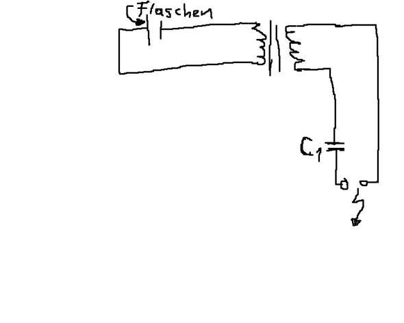 Leidener Flaschen & mini-transformator (Elektrik, Schaltplan)
