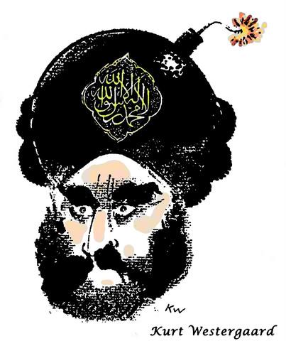 Karikatur Kopf Mohammed - (Bilder, Kunst, zeichnen)
