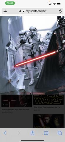 Lichtschwert spitze bei Star Wars?