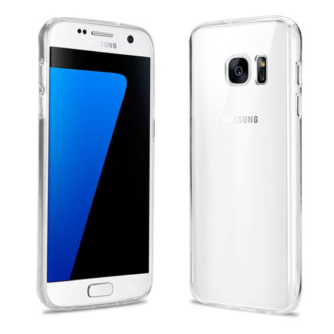 Samsung Galaxy S7 (mit Hülle) - (Handy, iPhone, Smartphone)