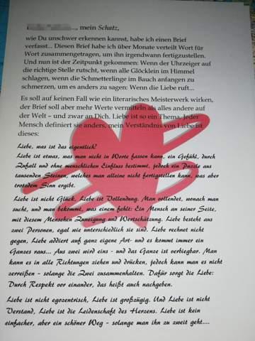 Freund liebesbrief für meinen So schreibst