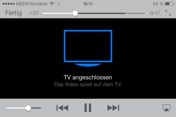 Bildschirmfoto iPhone 4 mit 30-polig auf VGA Adapter (Übertragung ging) - (Computer, iPhone, Apple)