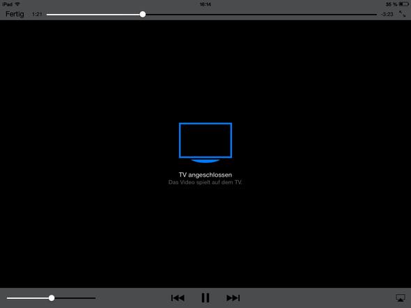 Bildschirmfoto iPad Mini mit Lightning auf VGA Adapter (Übertragung ging nicht) - (Computer, iPhone, Apple)