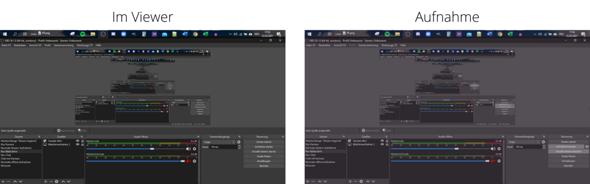 Lila-Stich bei Aufname mit OBS Windows?